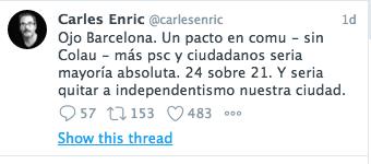 Tuit Carles Enric